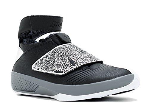 Nike Hommes Air Jordan Xx Retro Playoffs Noir Blanc Cool Gris Laser Noir / Blanc / Cool Gris