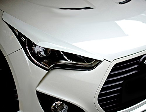 Amazon.com: Carbon Fiber For HYUNDAI VELOSTER Headlight Eye Lid Eyebrows Eyelids Trim Cover Panel Overlay: Automotive