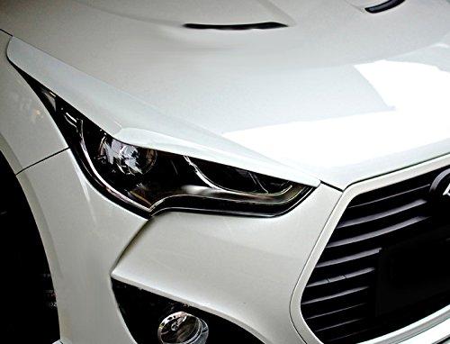 De fibra de carbono para Hyundai Veloster faros ojo tapa Cejas Párpados Cubierta Trim Panel Overlay: Amazon.es: Coche y moto