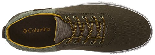 Columbia Vulc N Trail Lace, Zapatillas de Deporte Exterior para Hombre Marrón (Dark Brown/golden Yellow 202)