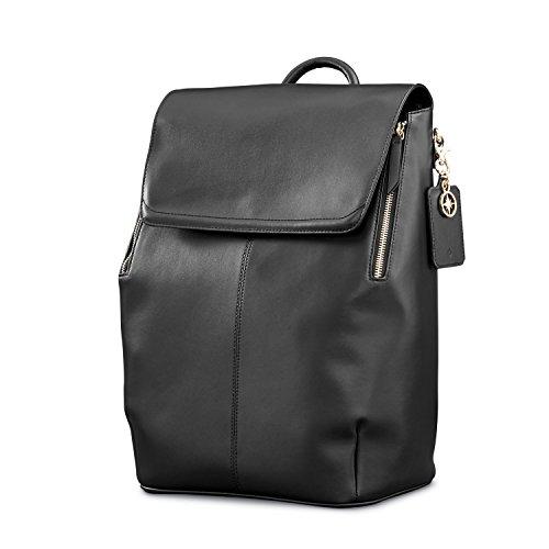Samsonite Ladies Leather Hamptons Backpack Black