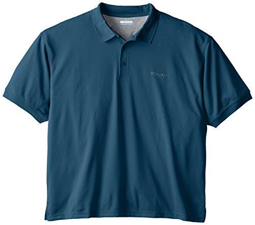 Columbia Men's Perfect Cast Polo Shirt, Blue Heron, Large