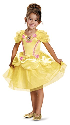 Disney Princess Halloween Costumes For Toddlers (Belle Toddler Classic Costume, Medium (3T-4T))