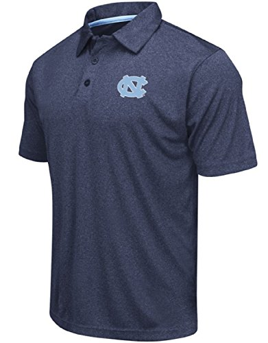 - Colosseum Men's NCAA Heathered Trend-Setter Golf/Polo Shirt-North Carolina Tar Heels-Heathered Carolina Blue-Medium