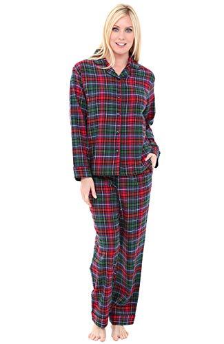 Size Pajama Plus Top (Alexander Del Rossa Womens Flannel Pajamas, Long Cotton Pj Set, 3X Red Green Blue Even Plaid (A0509V693X))