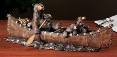 Canoe Trip, Jeff Fleming Bearfoots Bear Sculpture Big Sky Bearfoots Bear