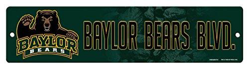 - NCAA Baylor Bears 16-Inch Plastic Street Sign Décor
