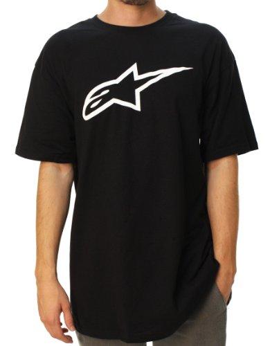 Alpinestars Men's Ageless Classic T-Shirt, Black/White, Small