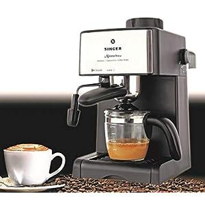 Singer Xpress Brew 800 Watts Coffee Maker Machine – 4 Cups Espresso/Coffee Capacity Carafe 16 x 21 x 30 cm (L x W x H)