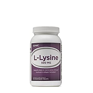 GNC LLysine 500 mg 250 Vegetarian Tablets