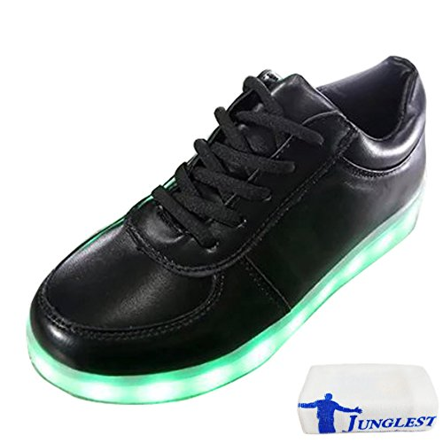 [Present:small towel]JUNGLEST® Women Men LED Light Glow Sneakers Fluorescence athletic sport White nMHRwegXAD