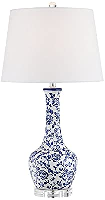 Maude Blue and White Ceramic Table Lamp