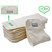 Bamboo Cloth Diaper Inserts Reusable Liners With a Fix Snap 4 Layers 12 Pieces 14 5 / Bamboo Cloth Diaper Inserts Reusable Liners With a Fix Snap 4 Layers 6 Pieces 14 5 .