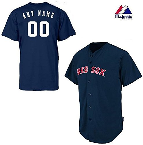 Boston Red Sox Full-Button CUSTOMIZED (Any Name & Number on Back) Major League Baseball Cool-Base Replica MLB - Majestic Replica Mlb Jerseys Custom