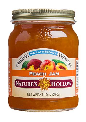 Nature's Hollow, Sugar-Free Peach Jam Preserves, Non GMO, Keto Friendly, Vegan and Gluteen Free - 10 Ounce