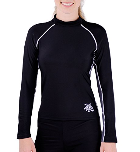 Tuga Women's Long Sleeve Rash Guard, UPF 50+ Sun Protection Swim Shirt