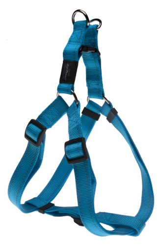 Rogz Utility Extra Large 1-Inch Reflective Lumberjack Adjustable Dog Step-in-Harness, Turquoise, My Pet Supplies