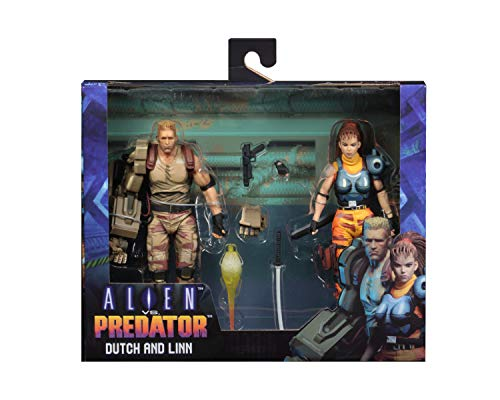 "NECA Alien vs Predator (Arcade Appearance) - 7"" Scale Action Figures - Dutch & Linn 2-Pack"
