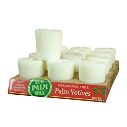 Aloha Bay Candle Votive Essential Oil Unscented, White, 12 Count