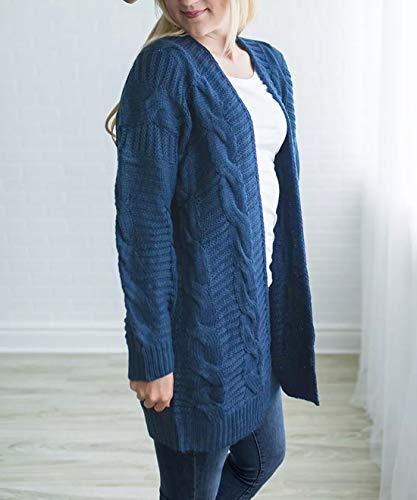 Tricot Casual Fox Pull Tops Veste Longues Vestes Mode Cardigan Femmes Manteau Denim Manteau De À Bleu Hiver Fräulein Manteau Outwear Automne Manches Pull qIdwYOO