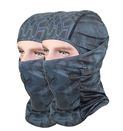 GANWAY Pack of 2 Outdoor Camouflage Accessories Fishing Hunting Hat Thin Camo Sun Balaclava Motorcycle Face Mask