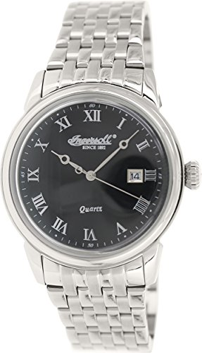 Ingersoll Men's INQ030BKSL Grafton Analog Display Japanese Quartz Silver Watch