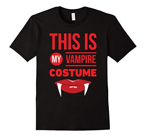 Mens Vampire 2017 Halloween Costume Shirt Medium Black