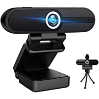 1080P Webcam with Microphone,HD Webcam with Privacy Cover and Tripod,Computer Camera with Microphone & Privacy Cover for…