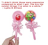 48 Pieces Fillable Baby Rattle Party Favors, Pink
