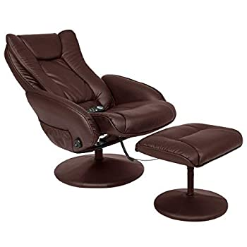 Best Choice Products Faux Leather Electric Massage Recliner Couch Chair