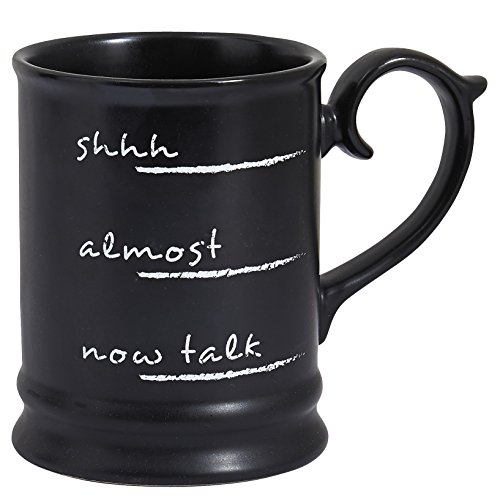 (Pier 1 Imports Coffee Talk Chalkboard-look Sassy Funny Coffee Mug Teacup)