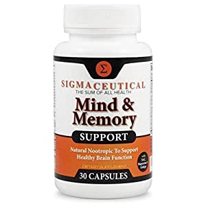Memory Support Supplement and Brain Booster, Natural Nootropic by Sigmaceutical