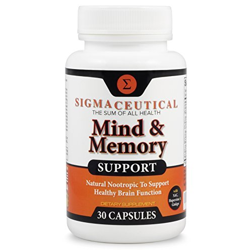 Memory Support Supplement and Brain Booster, Natural Nootropic Mental Focus - 30 ()