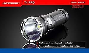 Jetbeam T4 PRO Rechargeable Cree XHP50 26650 LED Flashlight -2580 Lumens