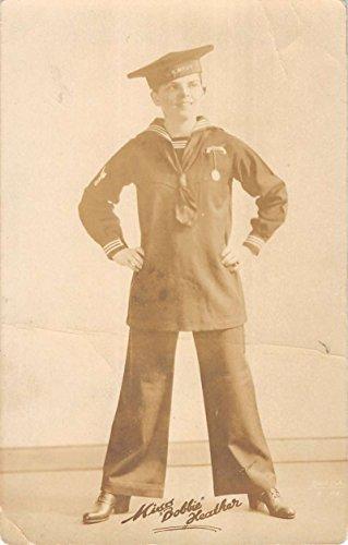 (Misses Bobbie Heather Vaudeville Sailor Uniform Real Photo Antique PC K17589)