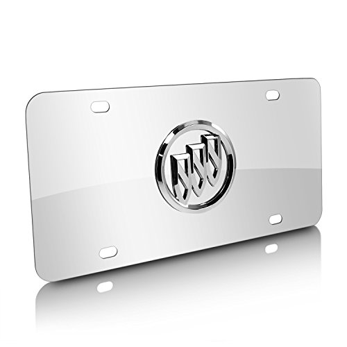 - Buick 3D Logo Chrome Stainless Steel License Plate