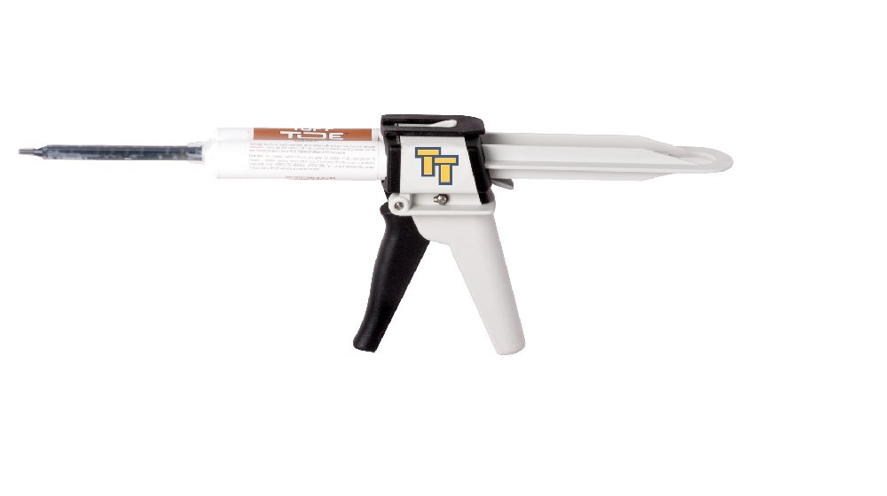 Tuff Gun Professional Applicator for Tuff Toe Pro & Boot Guard Applications + Includes 3 Mixing Tips -50mL for Dual Chamber Cartridge