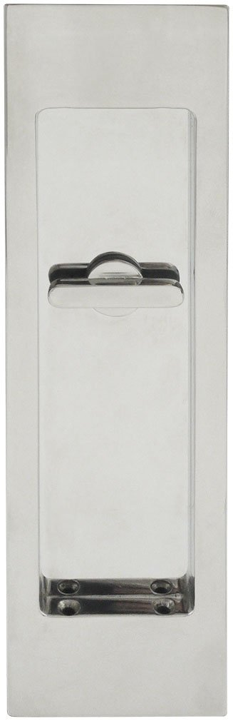INOX FH2782-14 PD Series Pocket Linear Flush Pull with Tt08 Thumb Turn, Polished Nickel