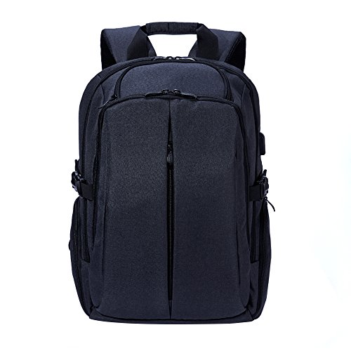 KALIDI Laptop Backpack 17 Inch School Backpack with USB Charge Port,Black