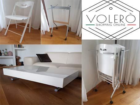 Carrello Salvaspazio Cucina : Tavolo trasformabile tavolino saliscendi allungabile set 4 sedie