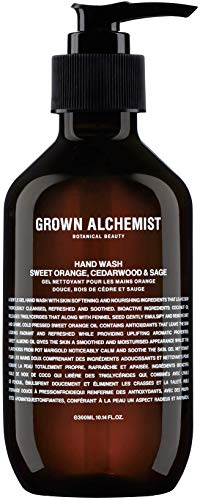 Grown Alchemist Hand Wash - Sweet Orange, Cedarwood & Sage (300 Milliliters, 10.14 Ounces)