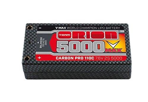 Team Orion Carbon V-Max 7.6V 5000 2S 110C ShortyTubes Battery