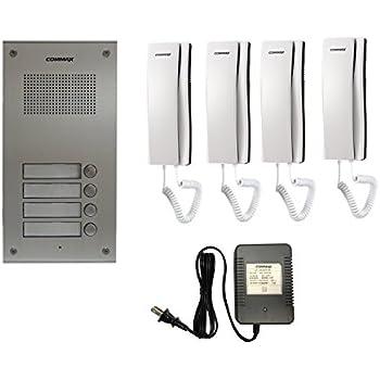 Brilliant Amazon Com Commax 4 Apartment Building Audio Intercom Set Home Wiring Cloud Brecesaoduqqnet