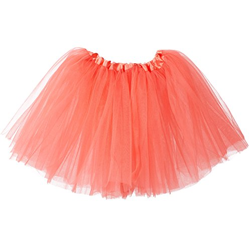 Studio Ballerina - My Lello Big Girls Tutu 3-Layer Ballerina (4T-10yr) Coral