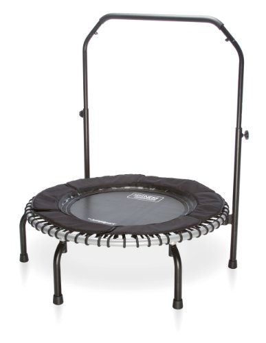 JumpSport Fitness Trampoline Model 370i - Top Rated for Quality and Durability - Quietest Bounce - Included Music 4 Workouts DVD