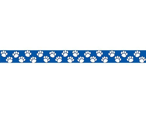 Teacher Created Resources Blue with White Paw Prints Straight Border Trim (Blue Paw Print)