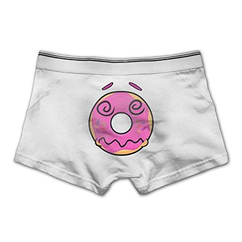 Anyaoqx Dazed and Confused Donut Emoji Men's Underwear Soft Cotton Stretch Boxer Briefs XL White