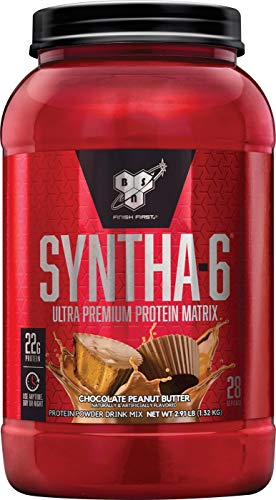BSN SYNTHA-6 Protein Powder, Whey Protein, Micellar Casein, Milk Protein Isolate, Flavor: Chocolate Peanut Butter, 28 Servings (Packaging May Vary.)