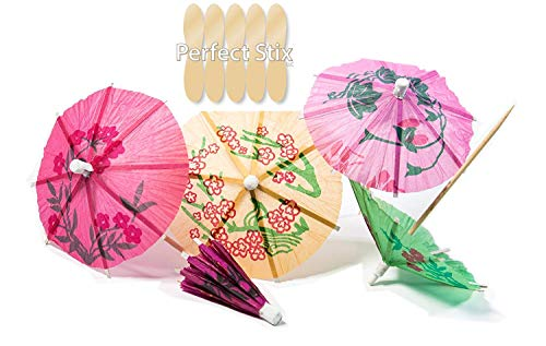 Perfect Stix Parasol Pick 288ct Tropical Drink Umbrella Picks (Pack of 288)