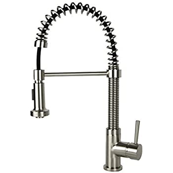 Single-Handle Kitchen Faucet in Brushed Nickel